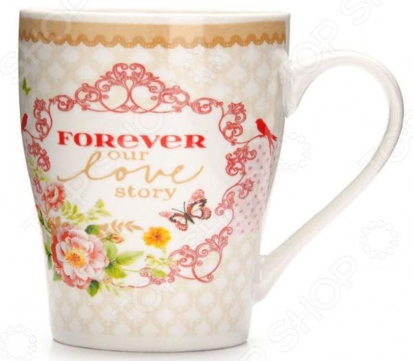 Кружка Loraine «Цветы» 26581-3