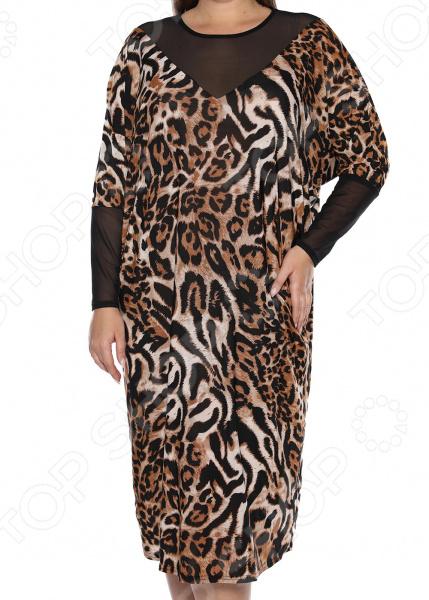 Платье «Лаурель». Цвет: леопардовый, черный платье футболка женское deha из трикотажного хлопка