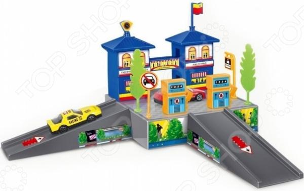 Набор игровой с машинкой Dave Toy «Заправочная станция» игровой набор dave toy заправочная станция с 1 машинкой