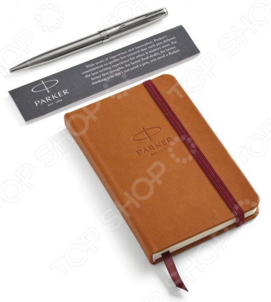 Набор подарочный: ручка шариковая и блокнот Parker Sonnet Stainless Steel CT