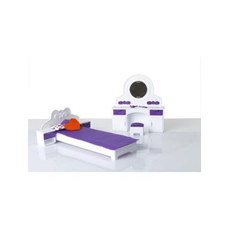 Купить Мебель для куклы Огонек «Спальня» 01537