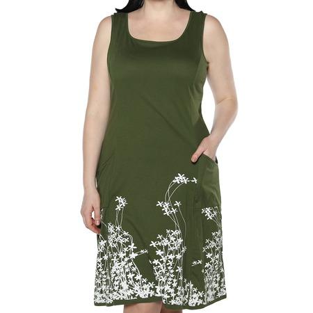 Купить Платье Алтекс «Цветущий сад». Цвет: зеленый