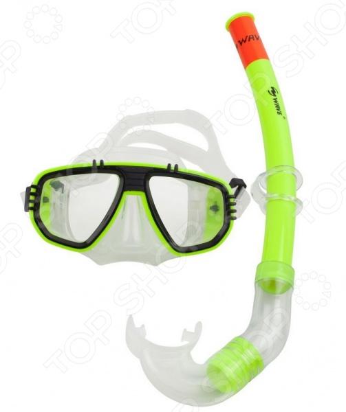 Набор из маски и трубки WAWE MS-1314S5 Набор из маски и трубки WAWE MS-1314S5 /Зеленый/Черный