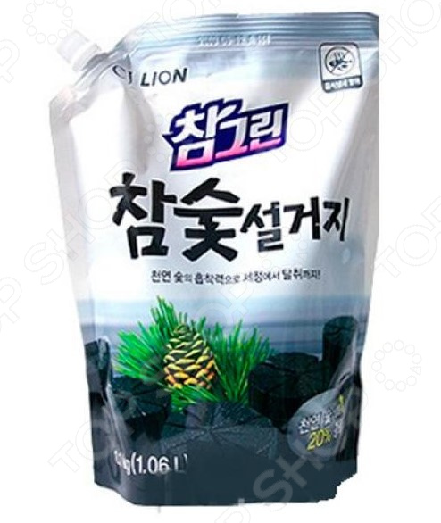 Средство для мытья посуды CJ Lion Chamgreen «Древесный уголь». В мягкой упаковке
