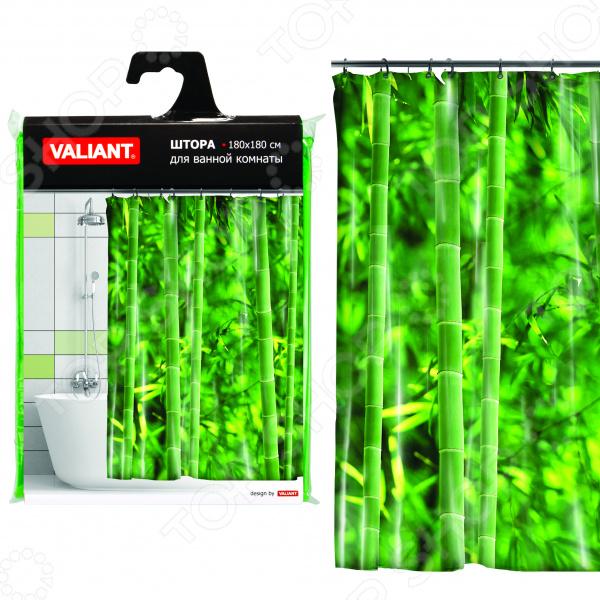 Штора для ванной Valiant «Бамбуковые джунгли»