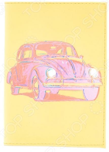 Обложка для паспорта кожаная Mitya Veselkov «Автомобиль»