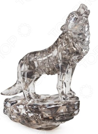Пазл 3D Crystal Puzzle «Черный волк» crystal puzzle 3d головоломка енот 48 деталей
