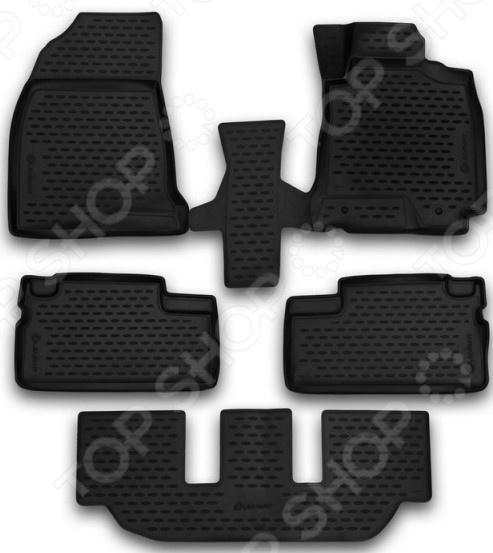 Комплект 3D ковриков в салон автомобиля Element Toyota WISH, 2003-2009