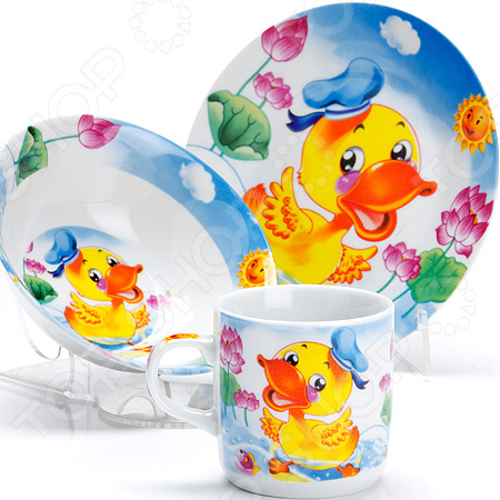 Набор посуды для детей Loraine «Утка» LR-27328