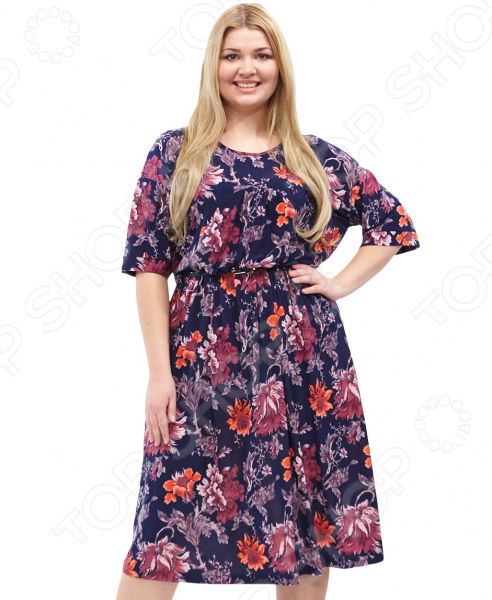 Платье Лауме-стиль «Цветочное счастье». Цвет: красный