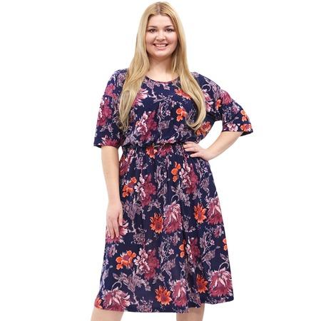Купить Платье Лауме-стиль «Цветочное счастье». Цвет: красный