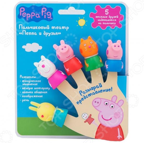 Пальчиковый театр Peppa Pig «Свинка Пепа» peppa pig свинка пепа плюшевые игрушки розовая свинка сестра 26см