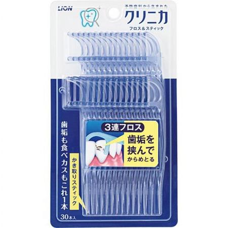 Купить Зубная нить Lion Clinica «Тройная»