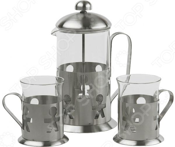 Френч-пресс с набором стаканов Rosenberg RSG-660009-M Rosenberg - артикул: 1766266