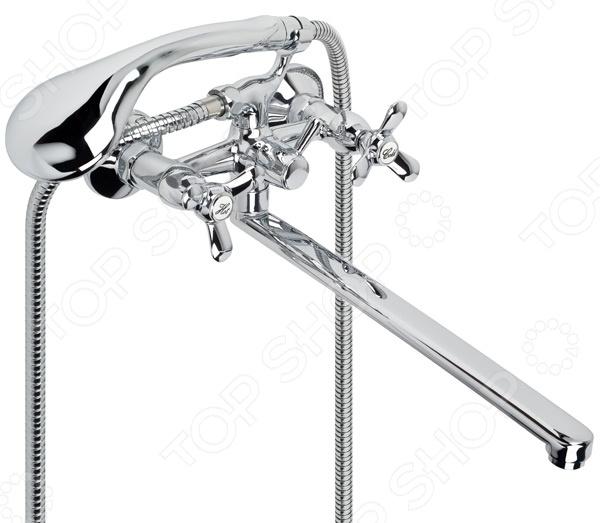Смеситель для ванны и умывальника с плоским изливом Retro