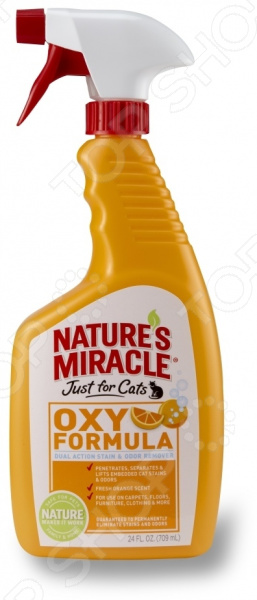 Уничтожитель пятен и запахов от кошек 8 in 1 JFC Orange Oxy Formula уничтожитель пятен и запахов от животных 8 in 1 hard floor cleaner