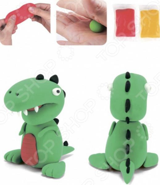 лепка из глины для детей Набор для лепки из полимерной глины Bradex «Динозавр»