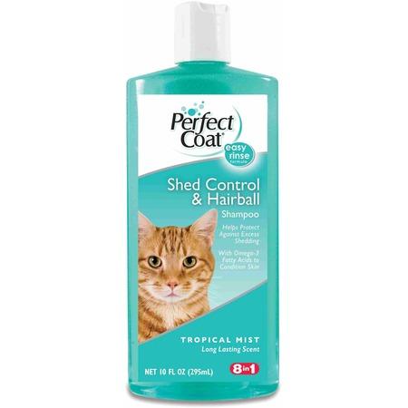 Шампунь для кошек 8 in 1 Shed Control&Hairball укрепляющий шерсть