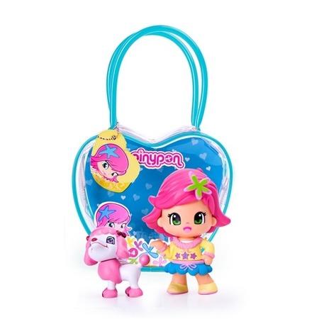 Купить Игровой набор Famosa «Кукла Пинипон с розовыми волосами с собачкой»