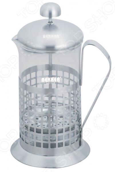 Френч-пресс Bekker BK-364 френч пресс bekker bk 364 0 6 л металл стекло серебристый
