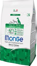 Корм сухой для щенков крупных пород Monge Natural Superpremium Maxi Puppy Rich in Chicken
