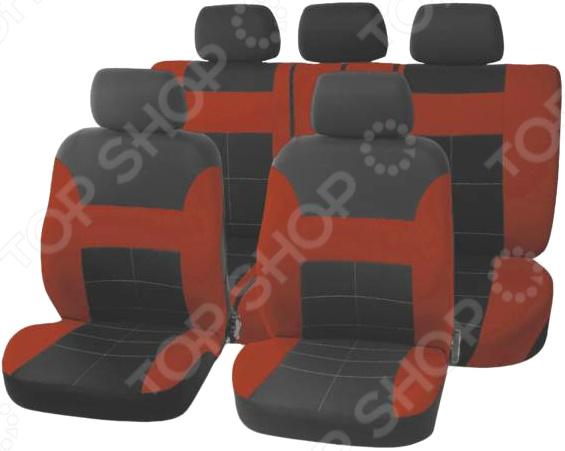 Набор чехлов для сидений SKYWAY Forsage «Прямоугольники» чехол на сиденье skyway chevrolet cobalt седан ch2 2