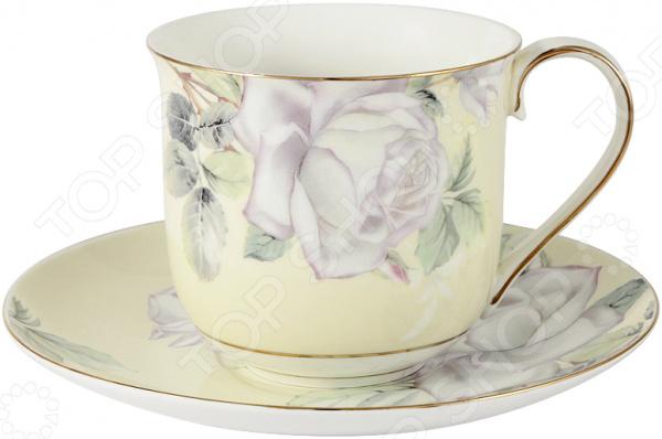 Чайная пара Colombo «Белые розы большая»