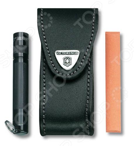 Чехол для ножа Victorinox с застежкой Velkro чехол victorinox для ножей 91 мм 5 8 уровней с отд для фонаря и точильного камня кожаный чёрный
