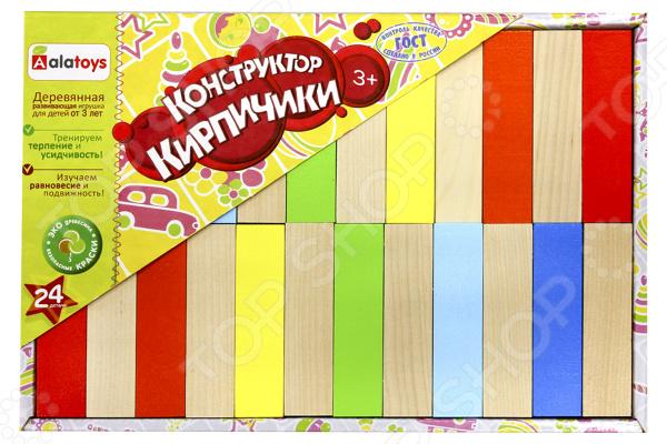 Конструктор деревянный Alatoys «Кирпичики» конструктор деревянный домик с сюрпризом
