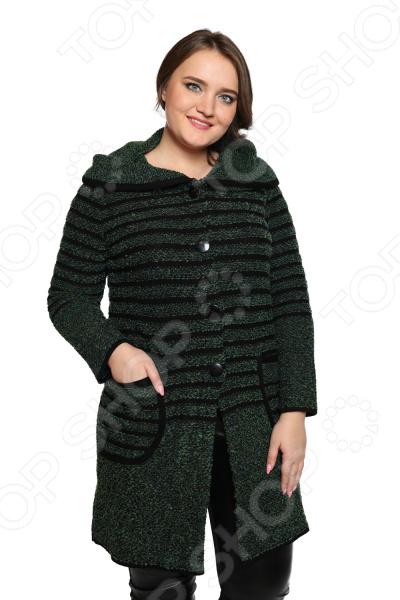 Жакет Milana Style «Горизонты». Цвет: изумрудный