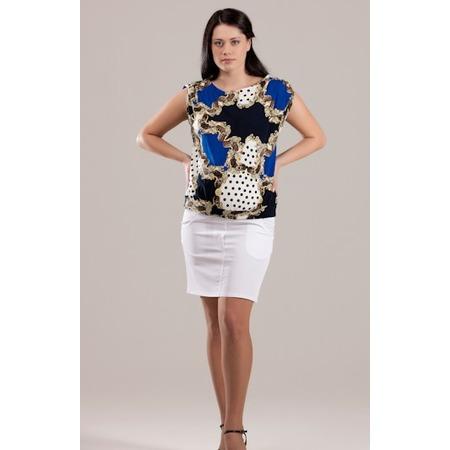 Купить Блузка для беременных Nuova Vita 1335.2. Цвет: синий