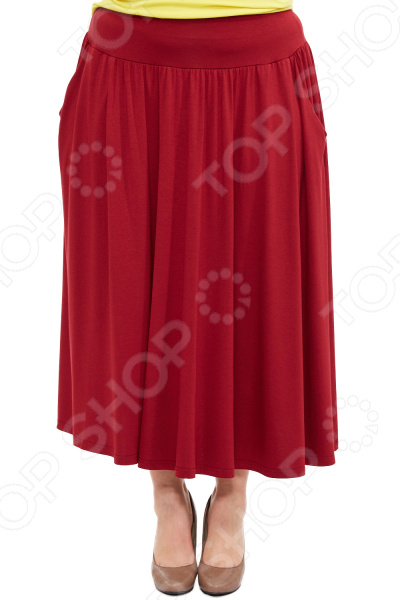 Юбка Laura Amatti «Изабелина». Цвет: бордовый платье laura amatti нежная радость цвет бордовый