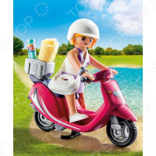 Конструктор игровой Playmobil «Экстра-набор: Посетитель пляжа со скутером» playmobil экстра набор ди джей 5377