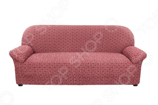 натяжной чехол на угловой диван с выступом слева еврочехол сиена сатурно Натяжной чехол на трехместный диван Еврочехол «Сиена Сатурно»
