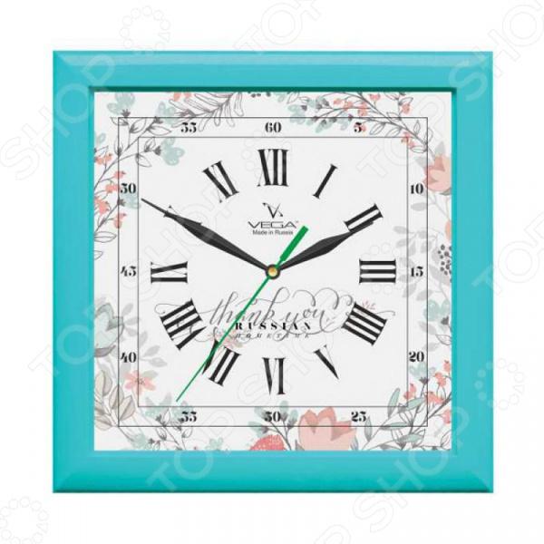 Часы настенные Вега П 3-16-127 «Бирюза»