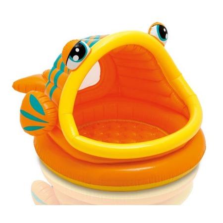 Купить Бассейн надувной детский Intex с крышей «Рыбка»