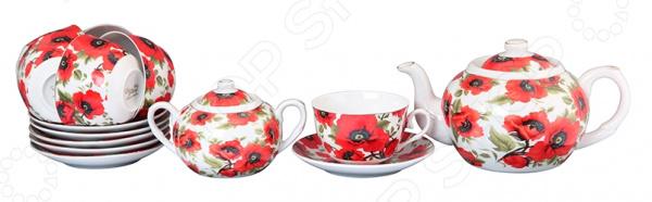 Чайный набор Elan Gallery «Маки» 730505