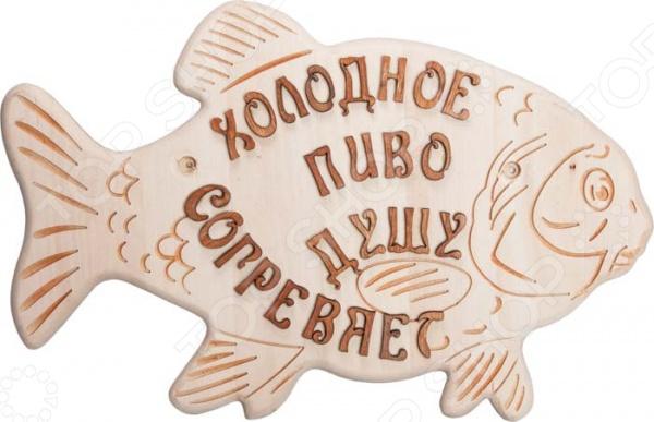 Панно для бани и сауны Банные штучки «Рыбка» килт для бани и сауны банные штучки мужской цвет белый