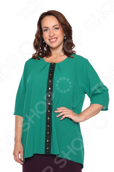 Блуза «Колорит». Цвет: зеленый