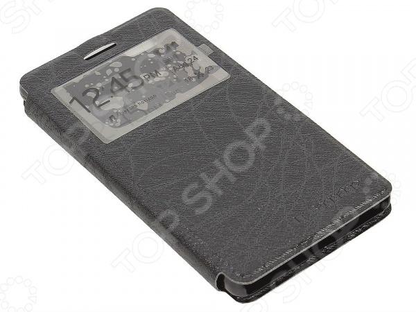 Чехол-книжка IT Baggage для Huawei P8 Lite чехол книжка it baggage для смартфона huawei p8 lite искусственная кожа черный