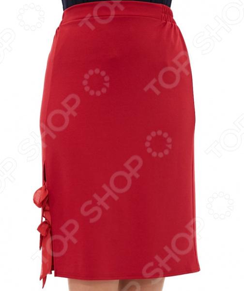 Юбка Матекс «Жардин». Цвет: бордовый