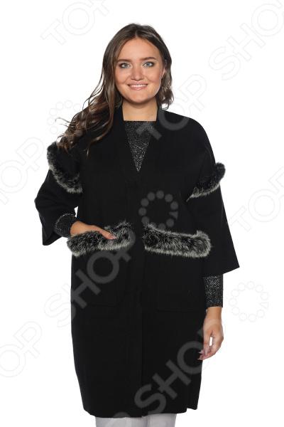 Кардиган Milana Style «Званый вечер». Цвет: черный кардиган женский milana style цвет темно бежевый 34359 размер 60