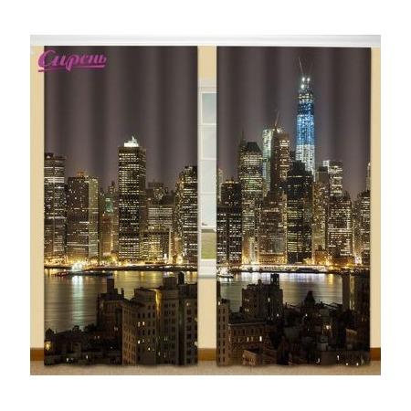 Купить Фотошторы Сирень «Отражение города»