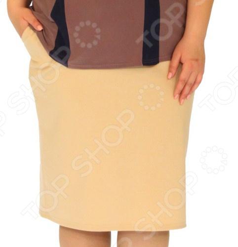 Юбка Laura Amatti «Лот 1029». Цвет: бежевый юбка gas цвет бежевый