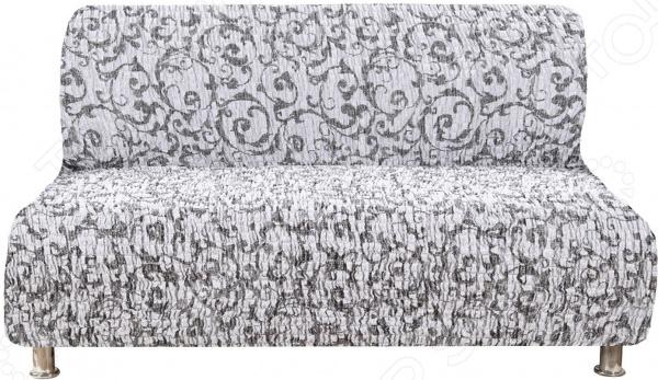 Фото - Натяжной чехол на трехместный диван без подлокотников Еврочехол «Сиена Джоя» натяжной чехол на стул еврочехол еврочехол микрофибра ваниль