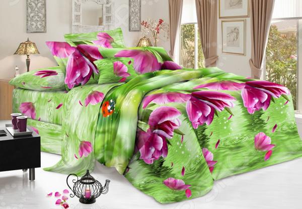 Комплект постельного белья Flora «Отражение». 1,5-спальный