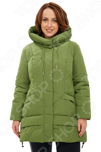 Пальто D`imma «Бланка». Цвет: салатовый