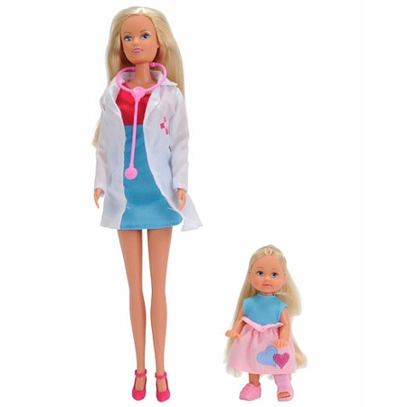 Купить Кукла с аксессуарами Simba Штеффи-врач и Еви на костылях