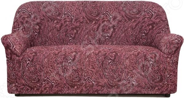 Натяжной чехол на трехместный диван Еврочехол Еврочехол «Виста. Руж» как купить мебель николаев бу