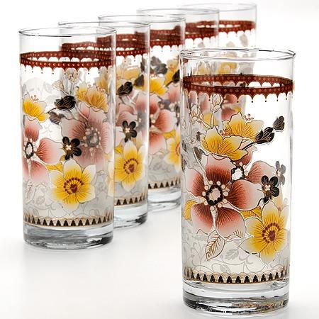 Купить Набор стаканов «Яркое настроение». Цвет: бежевый
